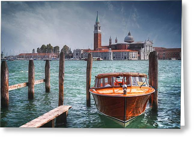 Enchanting Venice Greeting Card by Carol Japp