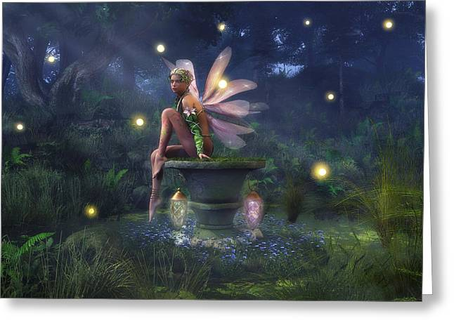 Enchantment - Fairy Dreams Greeting Card by Melissa Krauss