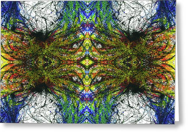 Enchantment Of The Collective Evolution #1507 Greeting Card by Rainbow Artist Orlando L aka Kevin Orlando Lau