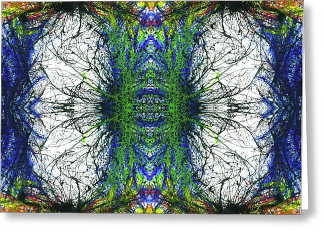 Enchantment Of The Collective Evolution #1508 Greeting Card by Rainbow Artist Orlando L aka Kevin Orlando Lau