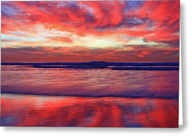 Greeting Card featuring the photograph Encinitas Energy Afterglow by John F Tsumas