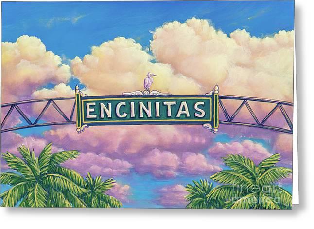 Encinitas Sunset Greeting Card