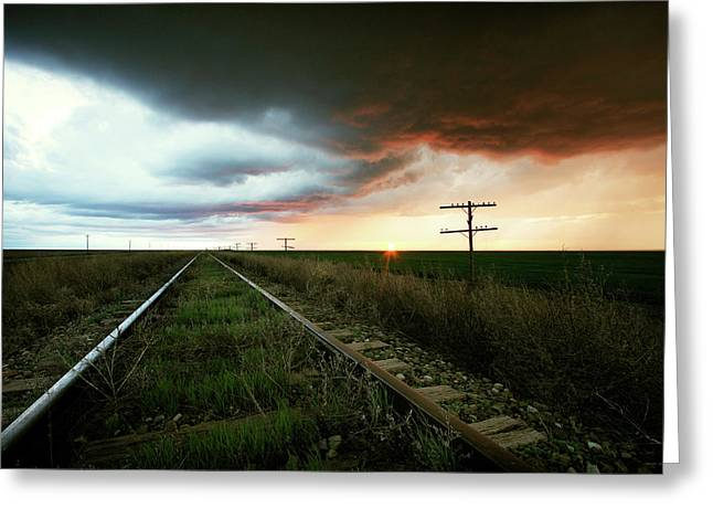 End Of A Stormy Day Greeting Card