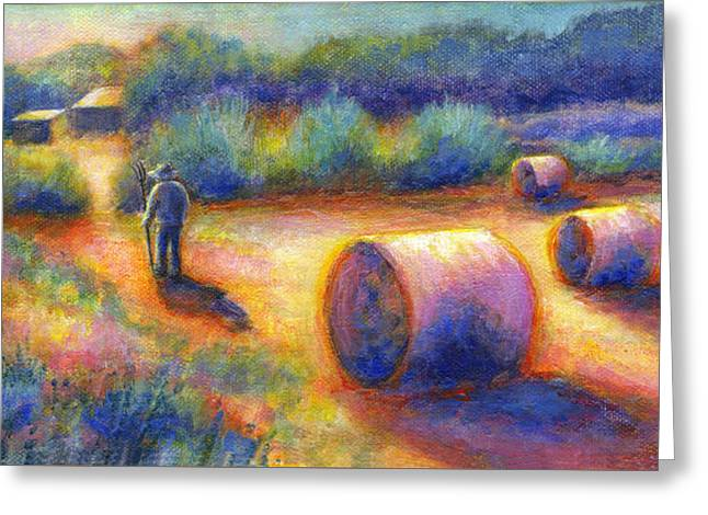 End Of A Well Spent Day Greeting Card by Retta Stephenson