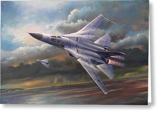 'end Of An Era' F111 Qld Final Flight Greeting Card