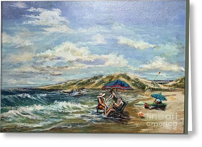 End Of Beach Day  Greeting Card