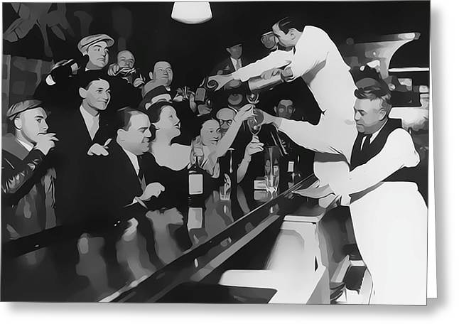 End Of Prohibition At The Bar Greeting Card by Dan Sproul