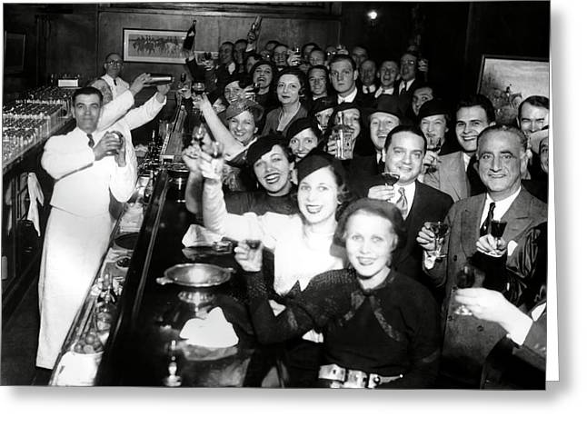 End Of Prohibition Celebration 1933 Greeting Card by Daniel Hagerman