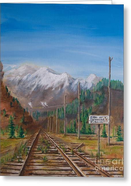 End Of Standard Gauge Greeting Card by Christopher