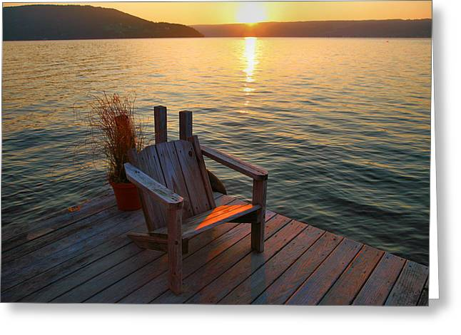 Recently Sold -  - Keuka Greeting Cards - End Of Summer II Greeting Card by Steven Ainsworth