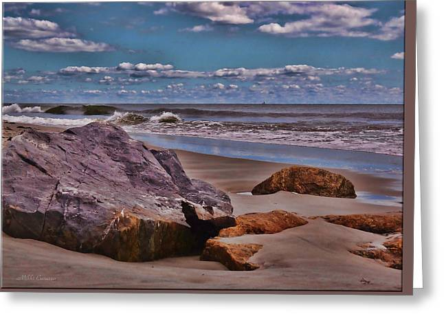 End Of Summer Seascape Greeting Card by Mikki Cucuzzo