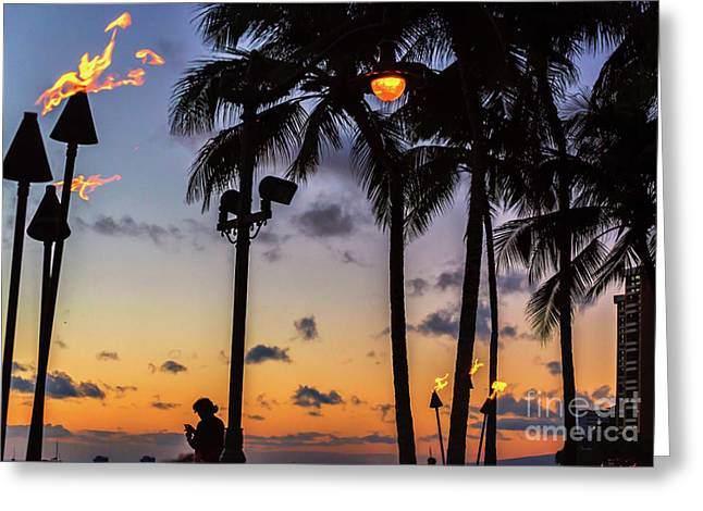 End Of The Beutiful Day.hawaii Greeting Card