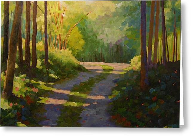End Of The Driveway Greeting Card by Mary McInnis
