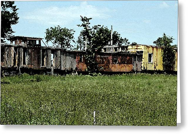 End Of The Line Greeting Card by Don and Sheryl Cooper