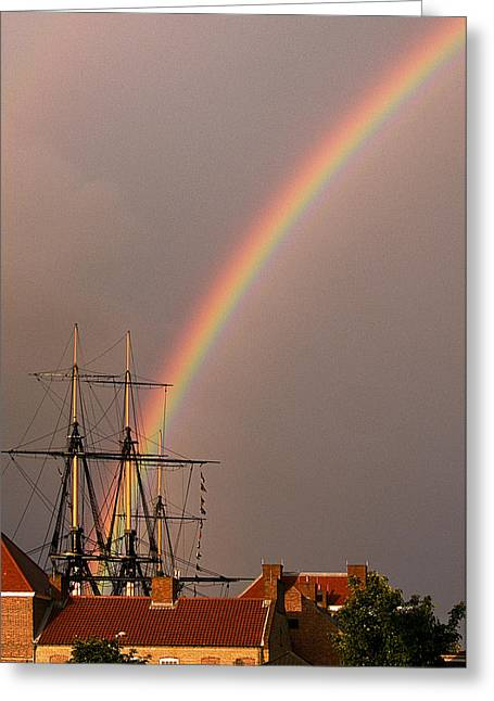 Hartlepool Greeting Cards - End Of The Rainbow Greeting Card by Barry Hayton