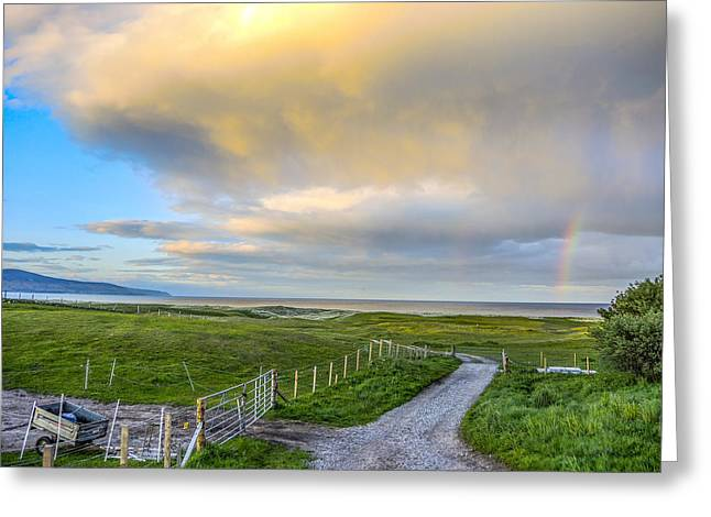 End Of The Road, Brora, Scotland Greeting Card
