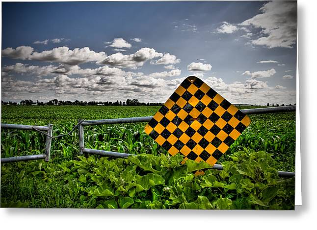 End Of The Road Greeting Card by Michel Filion