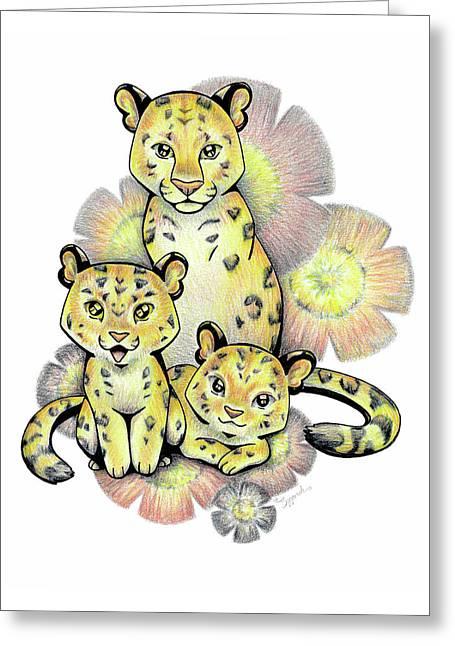 Endangered Animal Amur Leopard Greeting Card