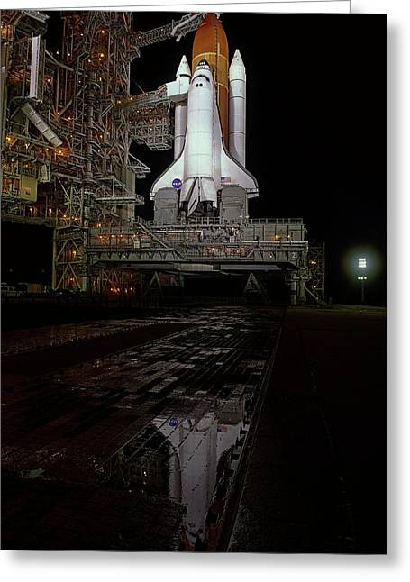 Endeavor On Launch Pad Greeting Card