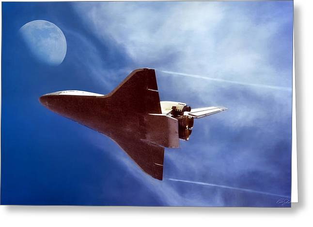 Endeavour Return Greeting Card by Peter Chilelli