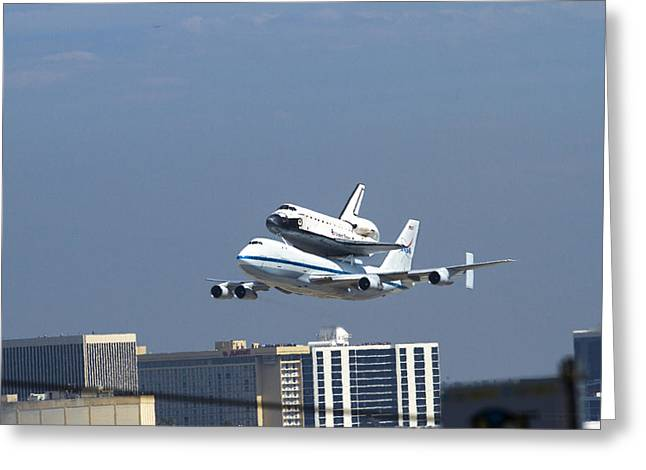 Endeavous Final Flight Lax Greeting Card by Denise Dube