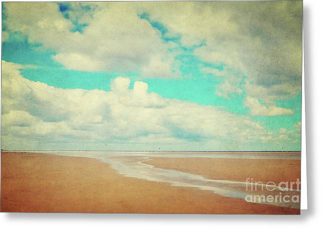 Endless Beach Greeting Card by Angela Doelling AD DESIGN Photo and PhotoArt