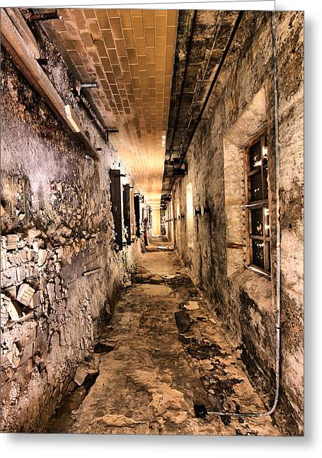 Jail Greeting Cards - Endless Decay Greeting Card by Andrew Paranavitana