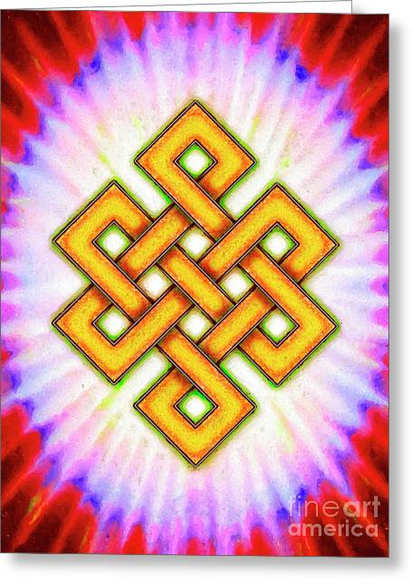 Endless Knot - Artwork 1 Greeting Card by Dirk Czarnota