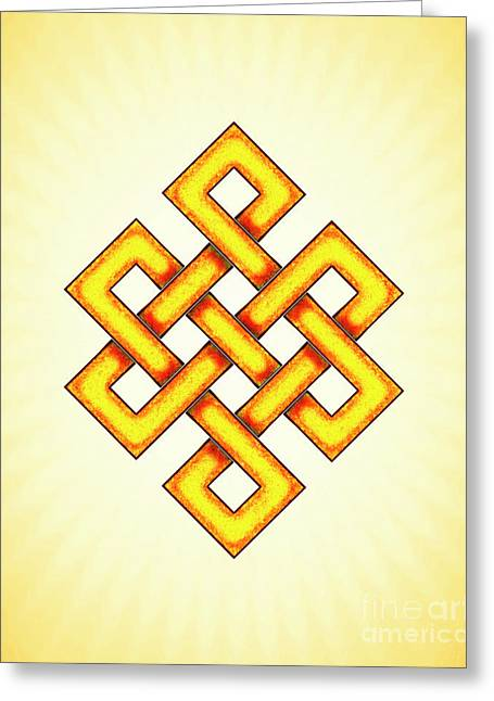 Endless Knot - Artwork 2 Greeting Card by Dirk Czarnota