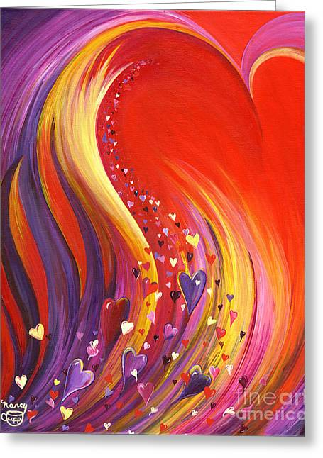 Greeting Card featuring the painting Arise My Love by Nancy Cupp