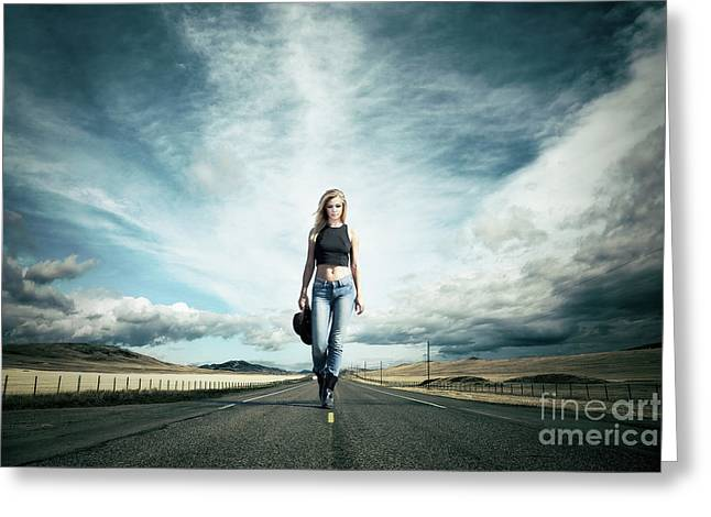 Endless Road To Happiness Greeting Card