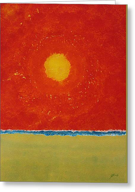 Endless Summer Original Painting Greeting Card by Sol Luckman