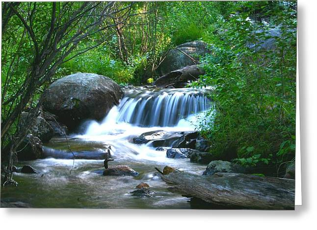 Endo Valley Waterfall Greeting Card