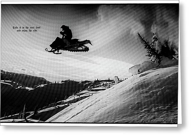 Greeting Card featuring the photograph Endorphin High  by Dennis Baswell