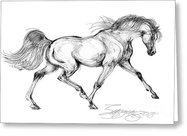 Endurance Horse Greeting Card