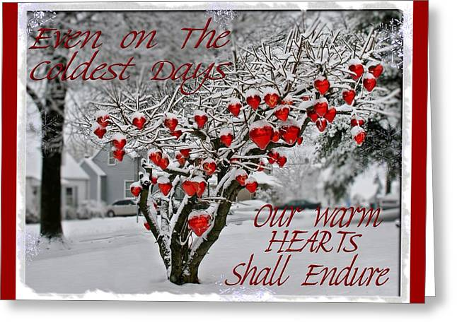 Greeting Card featuring the photograph Enduring Heart by DJ Florek