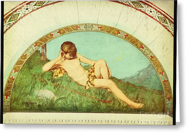 Endymion Library Of Congress 1901 Greeting Card