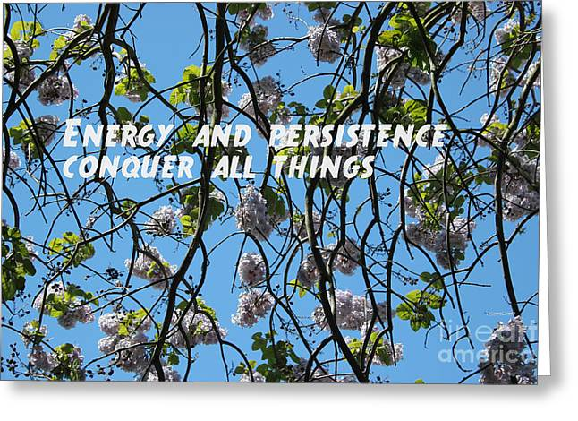 Greeting Card featuring the mixed media Energy And Persistence by Wilko Van de Kamp