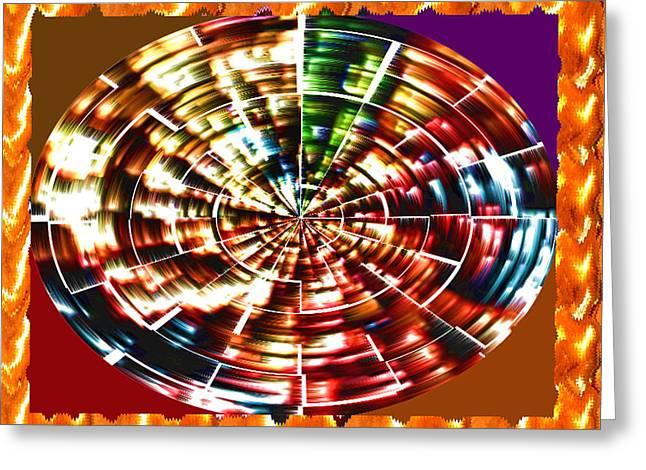 Energy Aura Cleaning Wheel In Motion Yoga Meditation Mandala By Navinjoshi At Fineartamerica.com Greeting Card