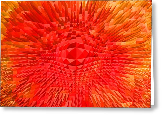 Basis-chakra Greeting Cards - Energy-Explosion Greeting Card by Ramon Labusch