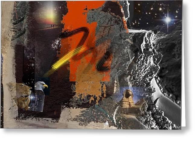 Energy Fields 2 Greeting Card by Janis Kirstein