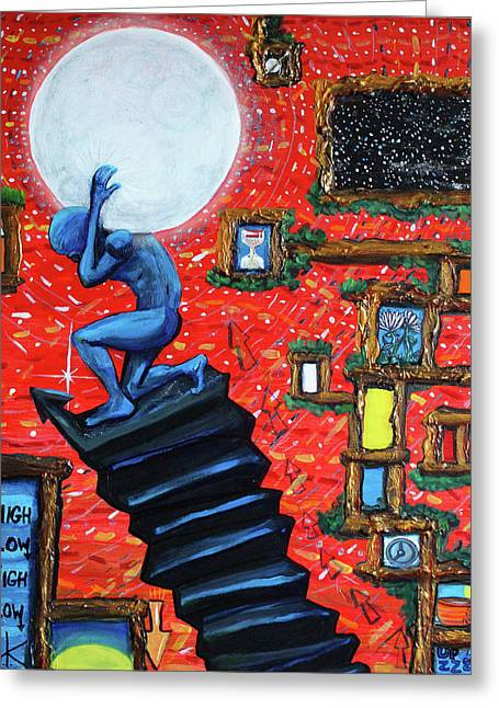 Energy Flow, The Active Space And The Effects Of The Rising Moon Greeting Card