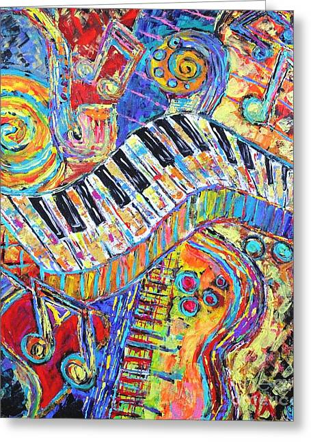 Energy In Music Greeting Card