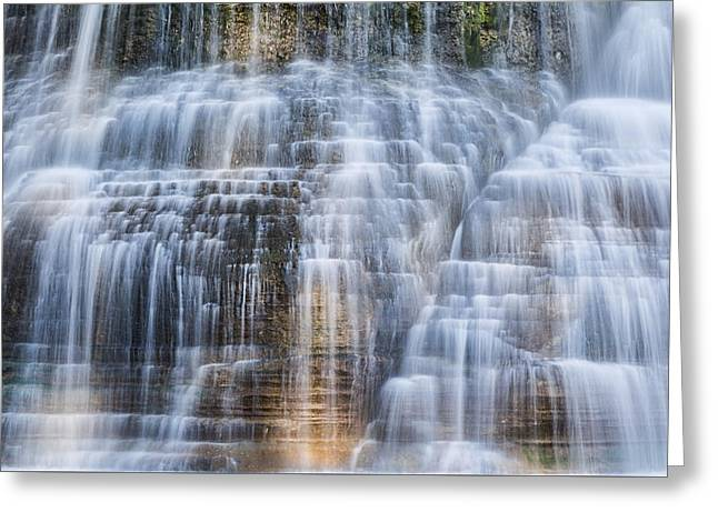 Lower Falls Cascade #1 Greeting Card by Stephen Stookey