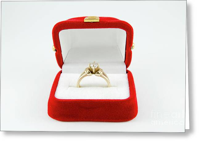 Engagement Ring  Greeting Card by Amir Paz