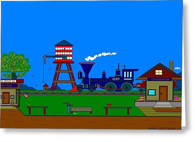 Engine 10-09. Greeting Card by Richard Magin