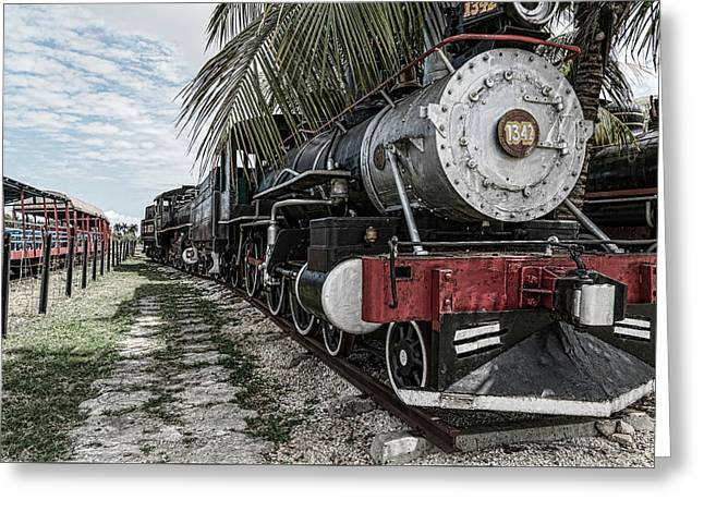 Engine 1342 Parked Greeting Card