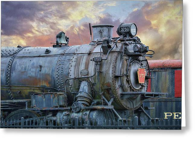 Greeting Card featuring the photograph Engine 3750 by Lori Deiter