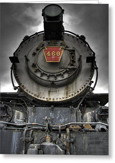Engine 460 Front And Center Greeting Card by Scott  Wyatt