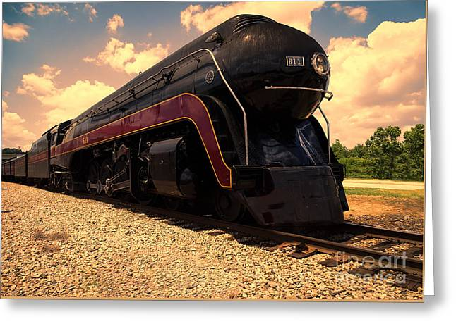 Engine #611 In Ole Town Petersburg Virginia Greeting Card